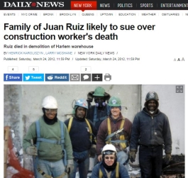 Construction Workers Injuries