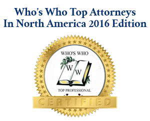 Who's Who Top Attorneys In North America Selection Logo