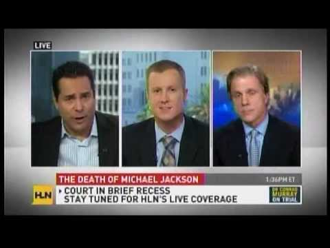 Jeff Shapiro appears during court recess on HLN about the Death of Michael Jackson