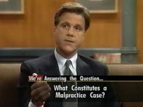 Jeffrey J Shapiro answering questions about Medical Malpractic